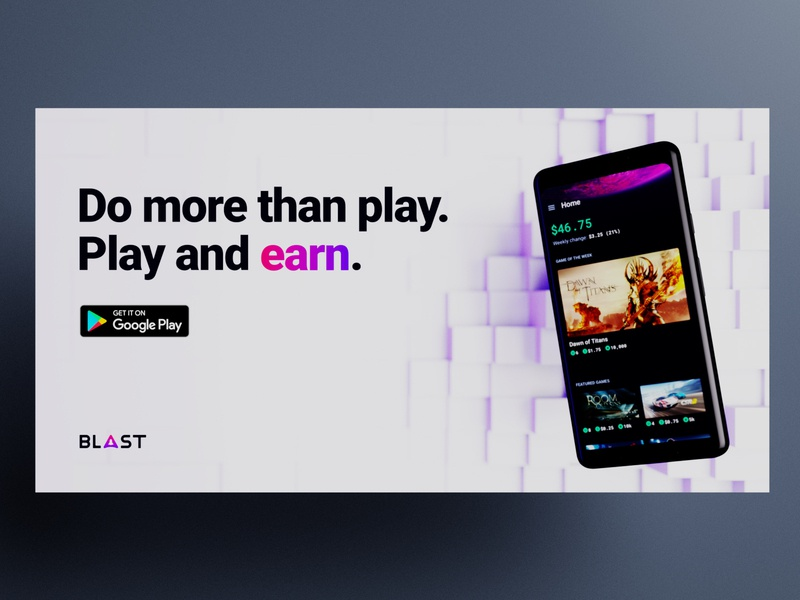 Blast Ad Work blender copy banner campaign ad fintech app 3d