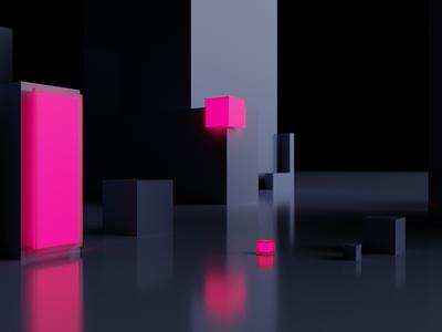 3D is kewl blender exploration test brand environment 3d