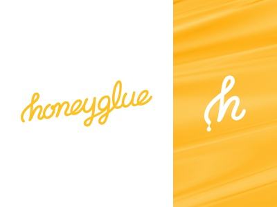 Honeyglue Email Marketing honey gold lettering type custom script branding logo
