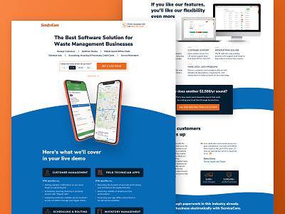 Service Core Demo Landing Page b2b cro ppc agency webdesign landing page saas leadgen