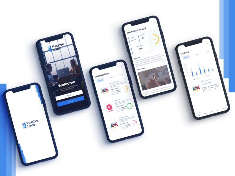 Passive Line - Mobile App Design ux ui app designs