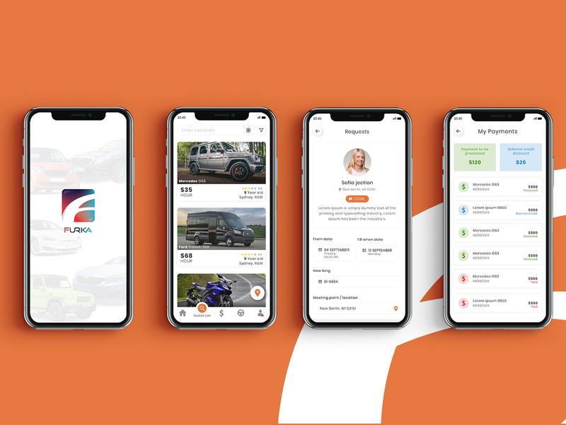 Furka - Mobile App Design ux app designs ui