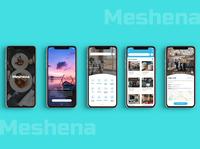 Meshena - Mobile App Design ui app design uiux ux ui app designs