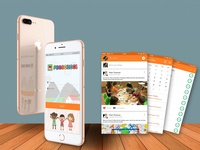 Preschool mobile app design