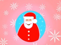 Santa Icon with wallpaper