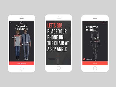 Fashion App shopping measurements fashion ui ux app mobile