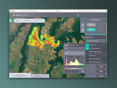 Agriculture Dashboard toggle satellite map complex design product ui ux dashboard agriculture