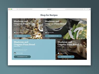 Recipes food design ux ui recipes website