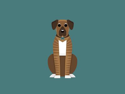 Peso the Dog flat illustration dog peso