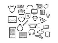 Monochromatic Icon Set
