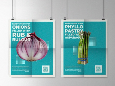Food Posters typography food poster print