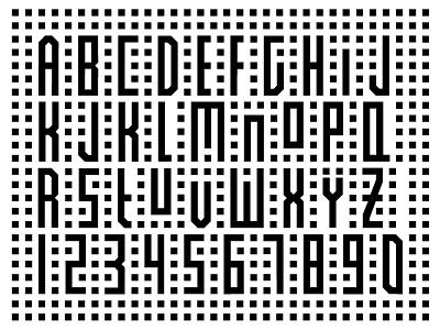 Font Design abc typography design font