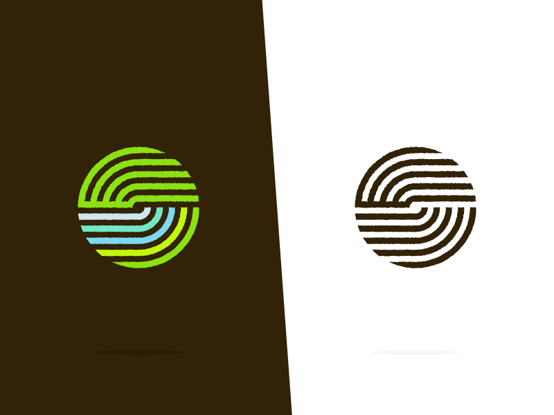 waste-free earth sustainability music staff identity branding symbol globe earth