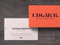 Edgar B Photography symbol design iconography typography design branding and identity photography branding