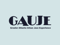 GAUJE branding identity logo wordmark nonprofit jazz