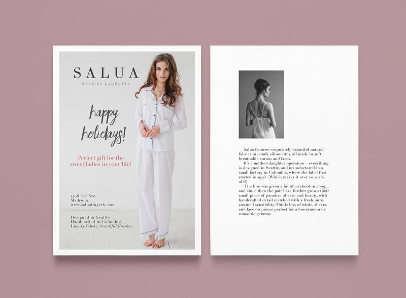 Salua Lingerie Mailers layoutdesign marketing