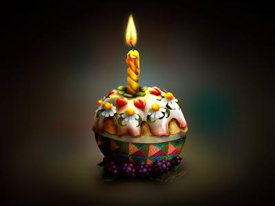 """Oh How I Miss Cake"" - Adam Parsons art"