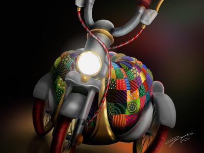 """The Colorful Ride"" - Adam Parsons art"