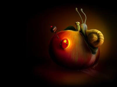 """Fun at Apple"" - Adam Parsons art"