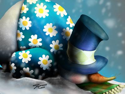 """""""Snowman"""" - Adam Parsons art"""