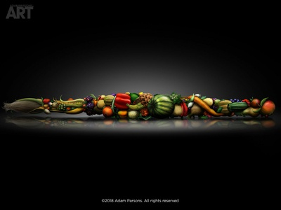 """The Needed Brush of Creative Nourishment"" - Adam Parsons art"