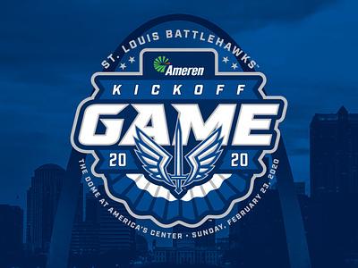 St. Louis BattleHawks Kickoff Game Brand Identity kurt hunzeker bunting badge sports football sports design