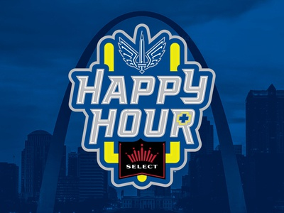 St. Louis BattleHawks Happy Hour+ Brand Identity kurt hunzeker branding sports illustration neon sponsorship beer football sports design