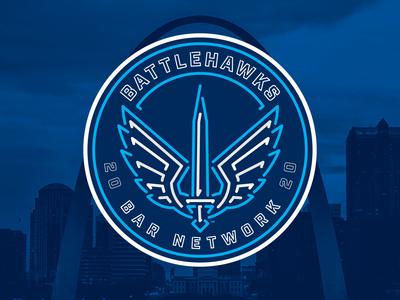 St. Louis BattleHawks Bar Network Brand Identity roundel neon sign football sports branding sports sports design