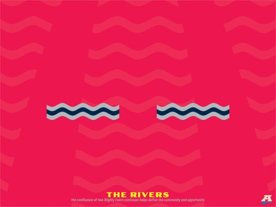 Project O - Reveal #5 - The Rivers flag waves rivers storytelling st. louis sports logo sports design sports branding sports brand sports soccer football crest branding brand identity brand design badge