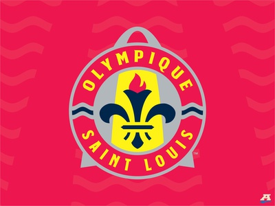 Project O = Olympique Saint Louis arch olympics storytelling st. louis sports design sports branding sports brand sports soccer flag torch rivers football crest branding brand identity brand design badge