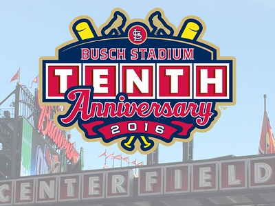 Busch Stadium Tenth Anniversary Mock-Up typography commemorative design sports baseball