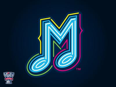 Memphis Música (MiLB) multicultural neon music baseball