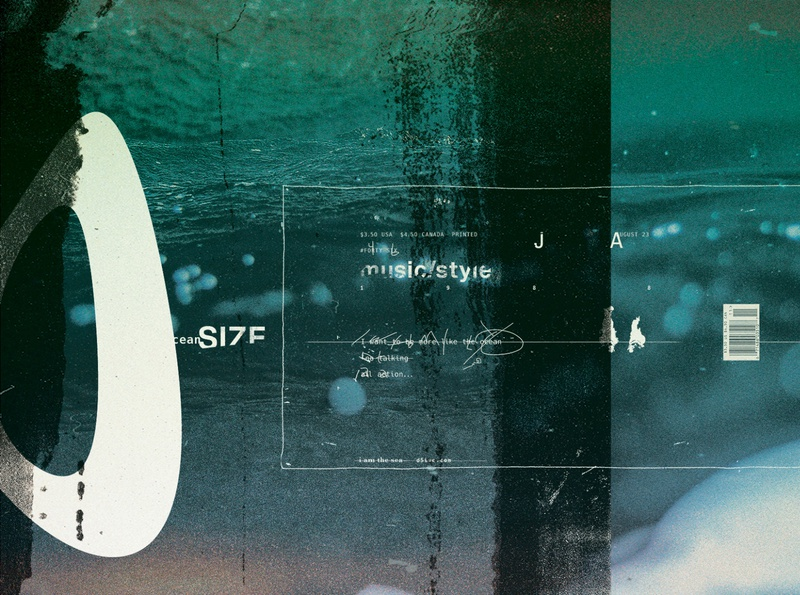 "46PGS ""Ocean Size"" Detail photography graphicdesign illustration printdesign print typography type design branding"