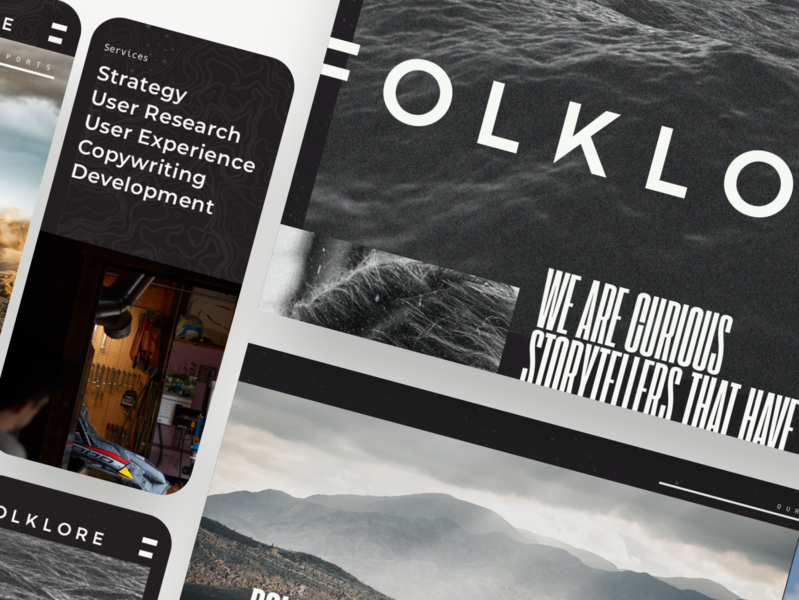 FOLKLORE Brand & Site Launch mobile visual design interactive design website web graphicdesign ux ui typography type design branding
