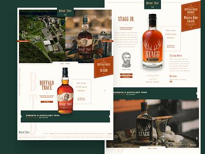 Buffalo Trace Website interactive website ux ui design branding