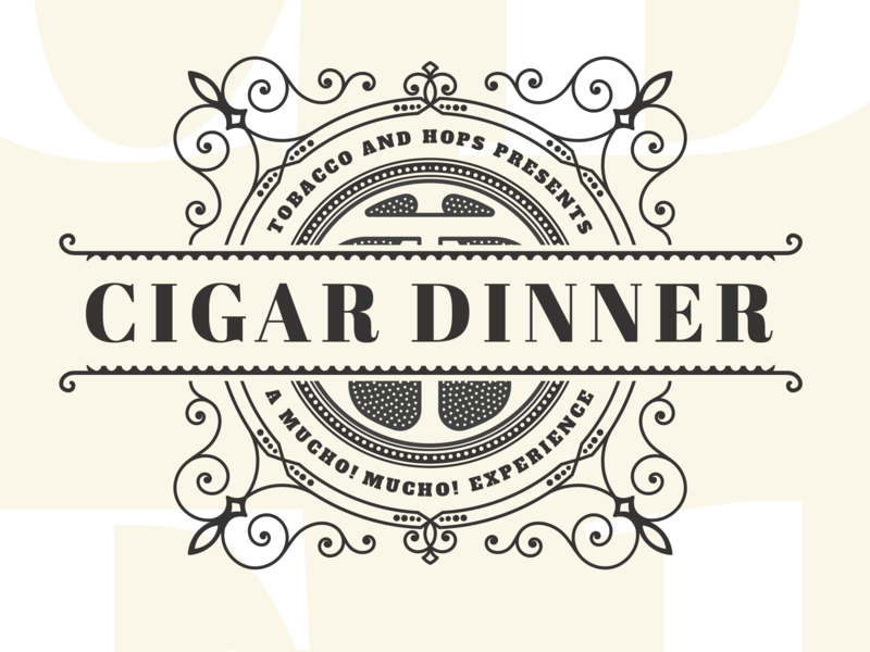 Logo Design for Cigar and Taco Dinner printdesign print illustration icon logo flat vector type typography design branding