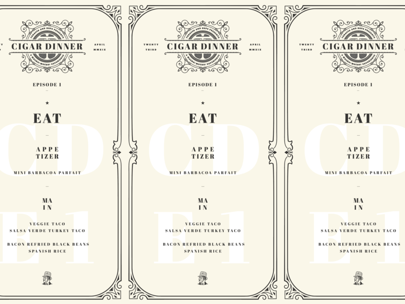 Special Cigar and Taco Event Dinner printdesign print illustration icon logo flat vector type typography design branding