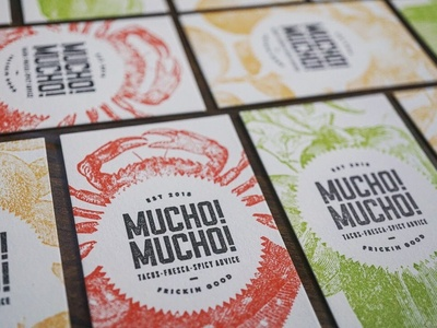 Mucho! Mucho! Taco Business Cards
