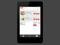 HEB Android NEXUS 7 - shopping cart