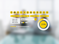 Yellow UI Kit - Freebie