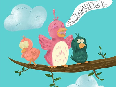 Bird Song childrens book childrensbookillustration children art character art childrensbooks cartoon character character design illustration cartoon