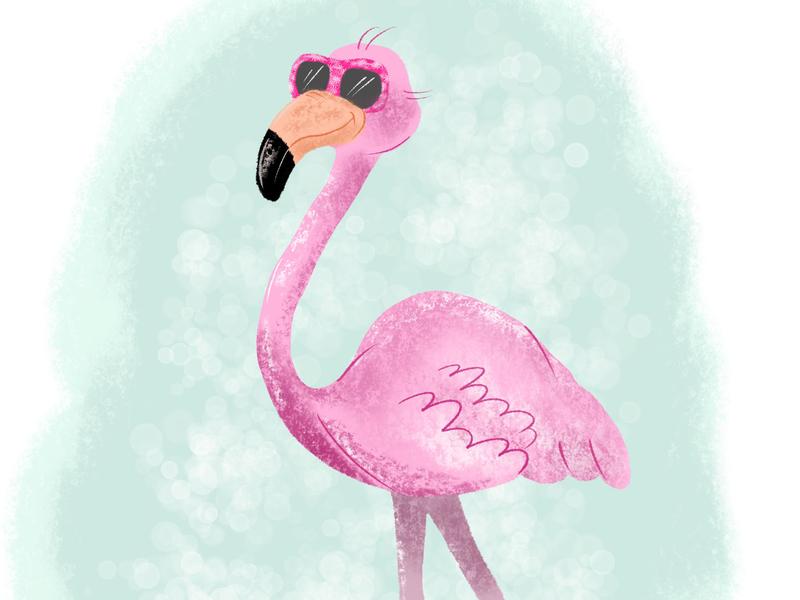 Cool Flamingo picturebook flamingo digitalart illustration art childrens books kids books illustration