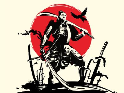 samurai ink sketch