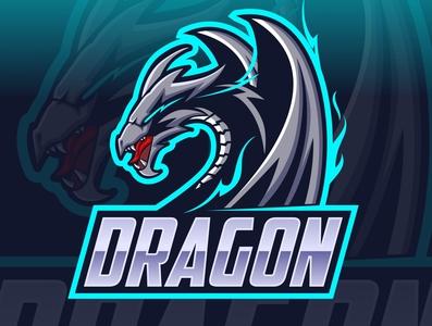 dragon esport logo design