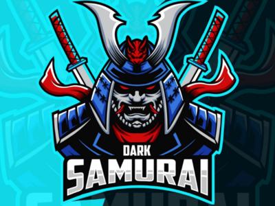 Dark samurai e-sport logo