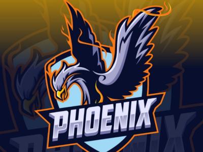 Phoenix Mascot E-sport logo design