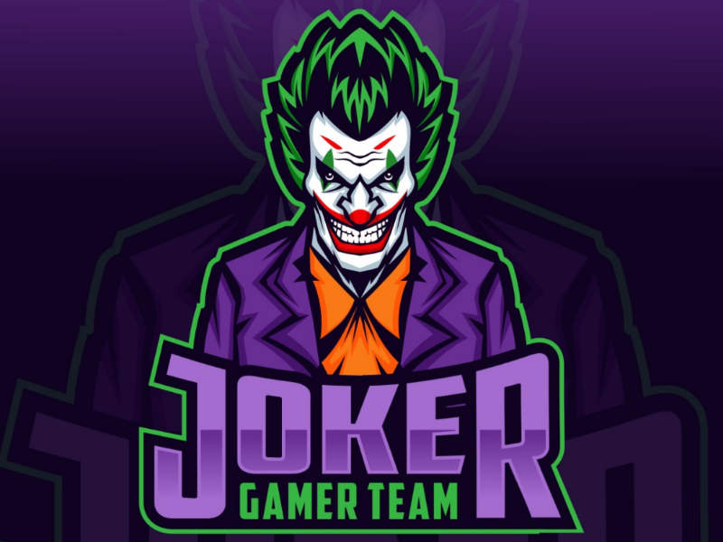 Joker e-sport logo design by MonkeyZen on Dribbble