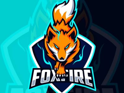 Fox Fire mascot e-sport logo