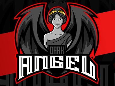 dark angel mascot esport logo design
