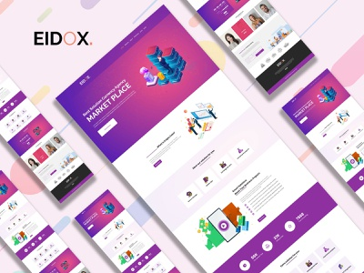Eidox. One page currency agency site Design. currency exchange currency converter agency bitcoins bitcoin coins cripto currency